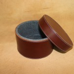 Leather keepsake box/container