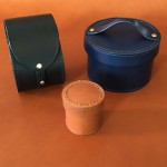 Leather pots and containers