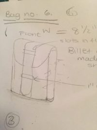 Quick Bag Sketch in preparation for leather bag construction